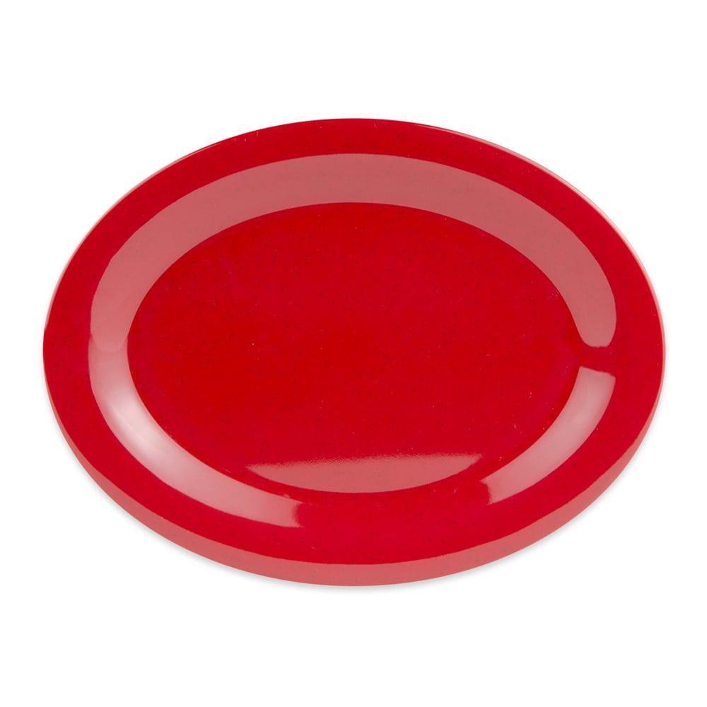 """GET OP-950-RSP Oval Serving Platter, 9.75"""" x 7.25"""", Melamine, Red"""