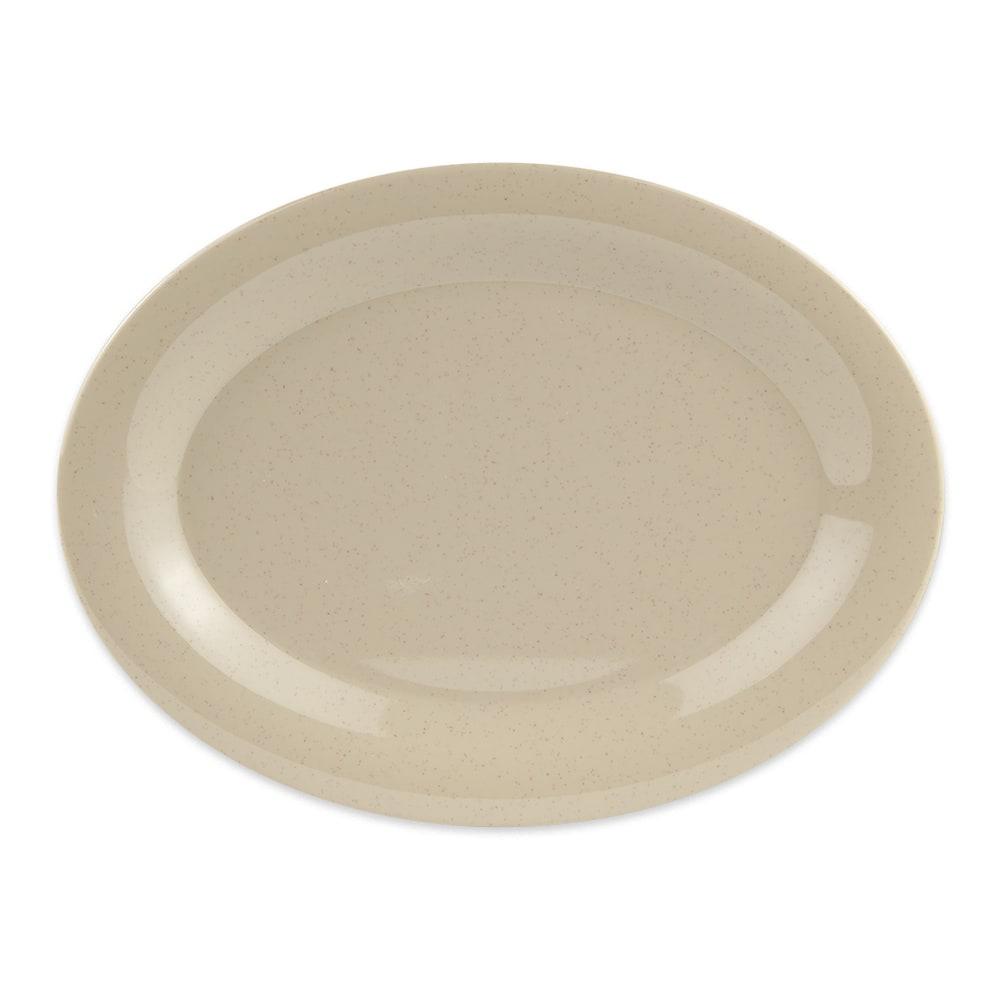 """GET OP-950-S Oval Serving Platter, 9.75"""" x 7.25"""", Melamine, Sandstone"""