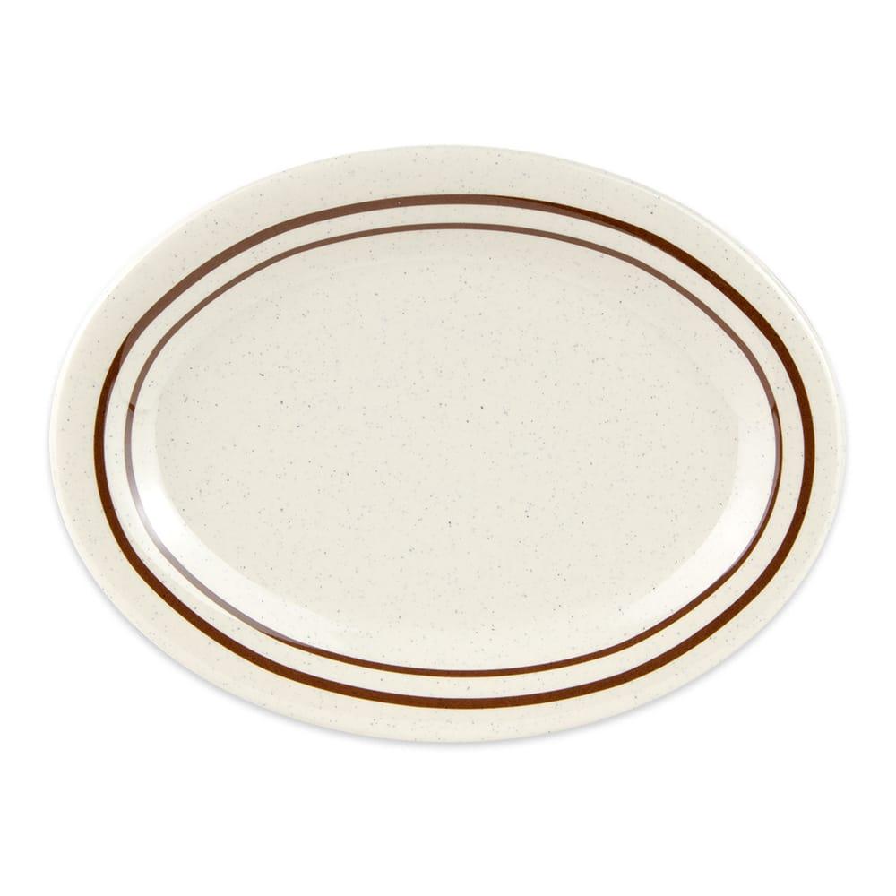 """GET OP-950-U Oval Serving Platter, 9.75"""" x 7.25"""", Melamine, White"""