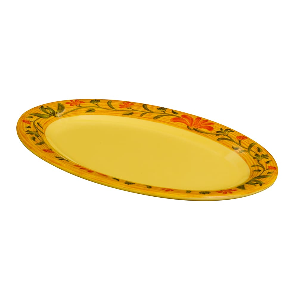 """GET OP-950-VN Oval Serving Platter, 9.75"""" x 7.25"""", Melamine, Yellow"""