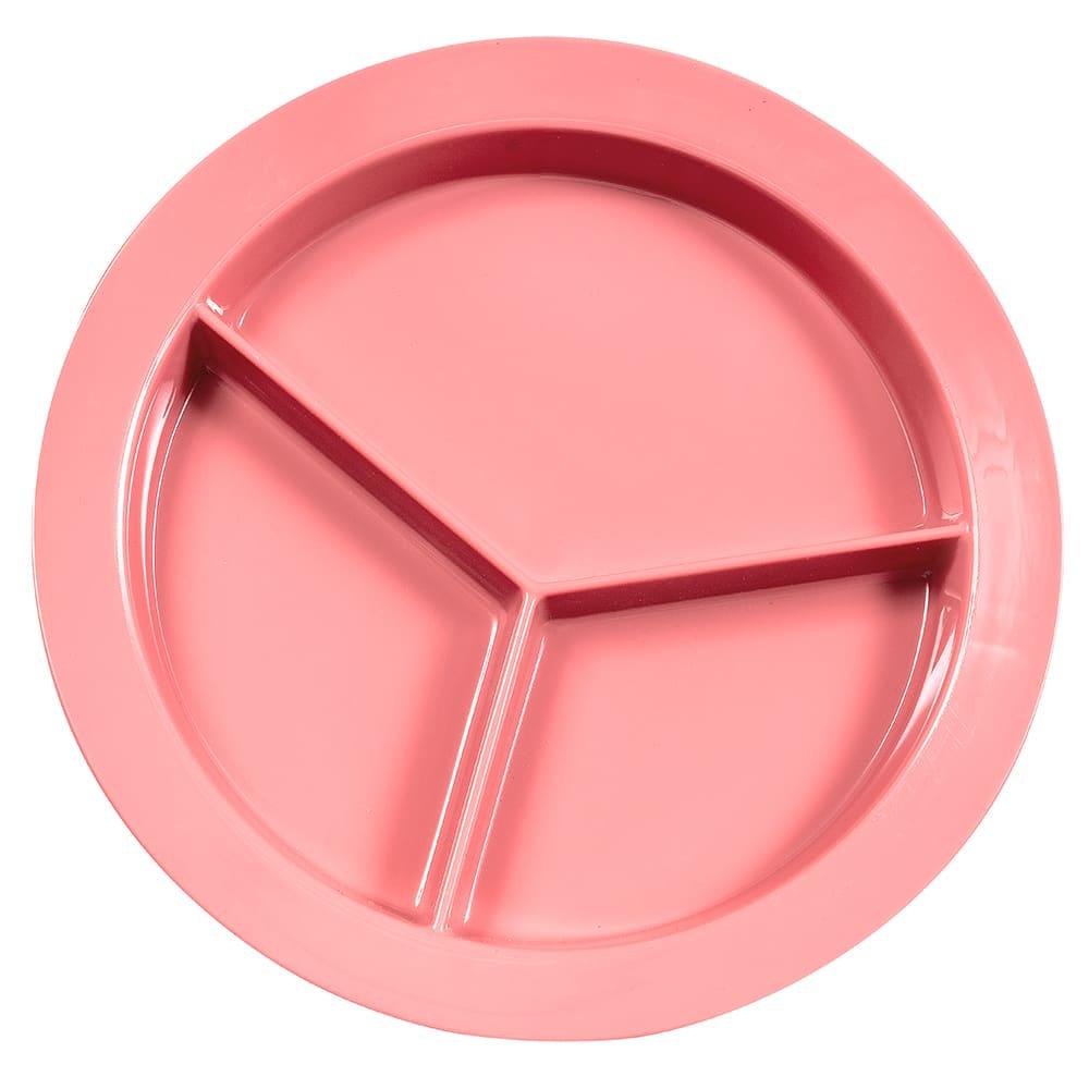 """GET P-1530-MAV 9"""" Round Dinner Plate, Melamine, Mauve"""