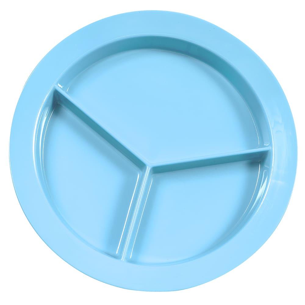 "GET P-1530-SB 9"" Round Dinner Plate, Melamine, Blue"