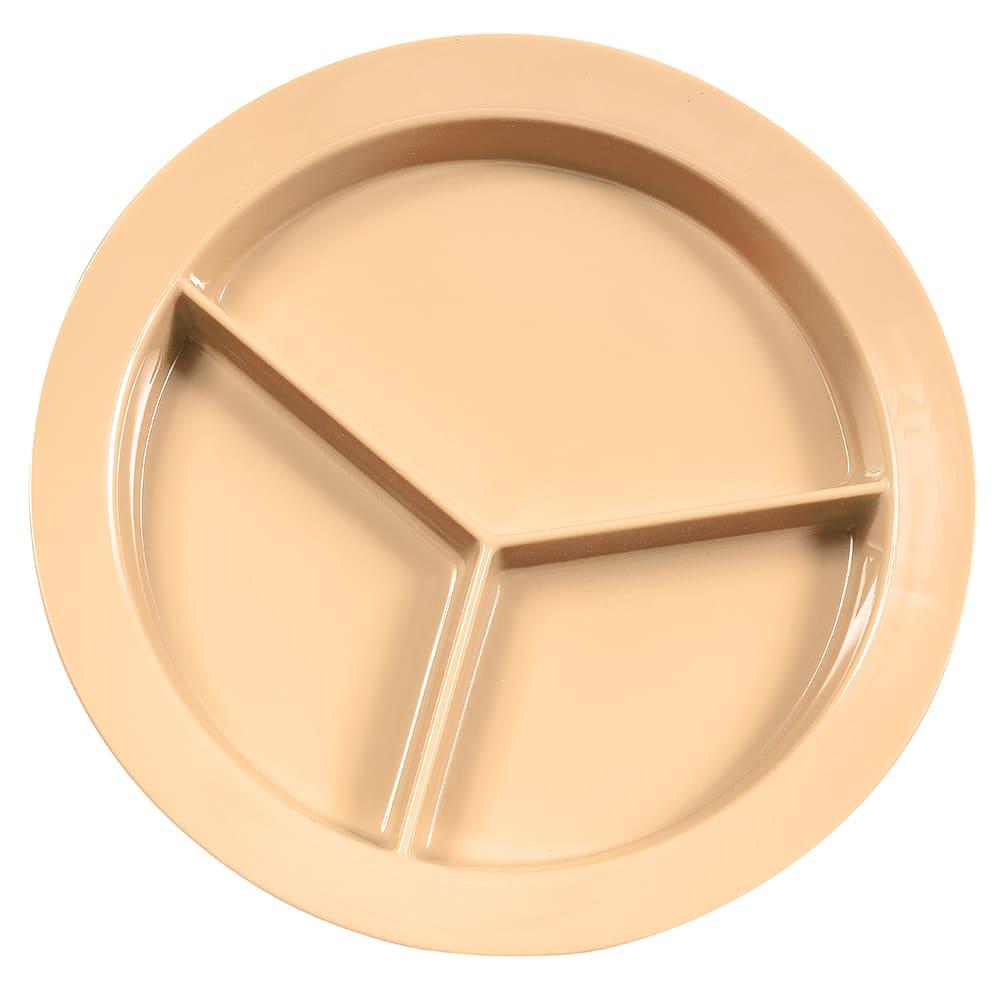 "GET P-1530-T 9"" Round Dinner Plate, Melamine, Tan"