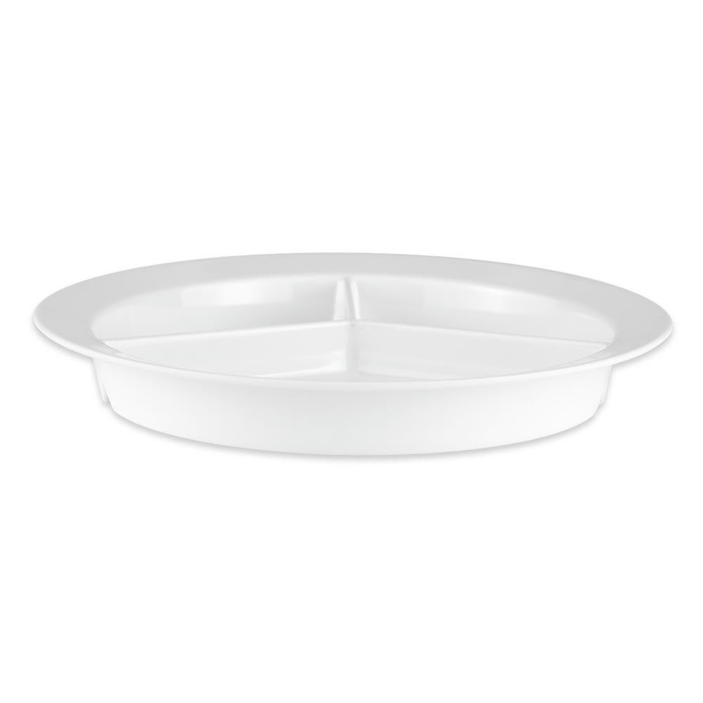 """GET P-1530-W 9"""" Round Dinner Plate, Melamine, White"""