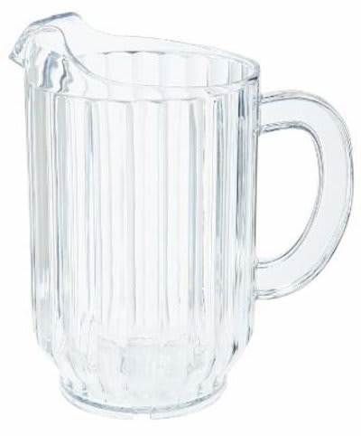 GET P-2064-CL 60 oz Water Pitcher, SAN Plastic, Clear