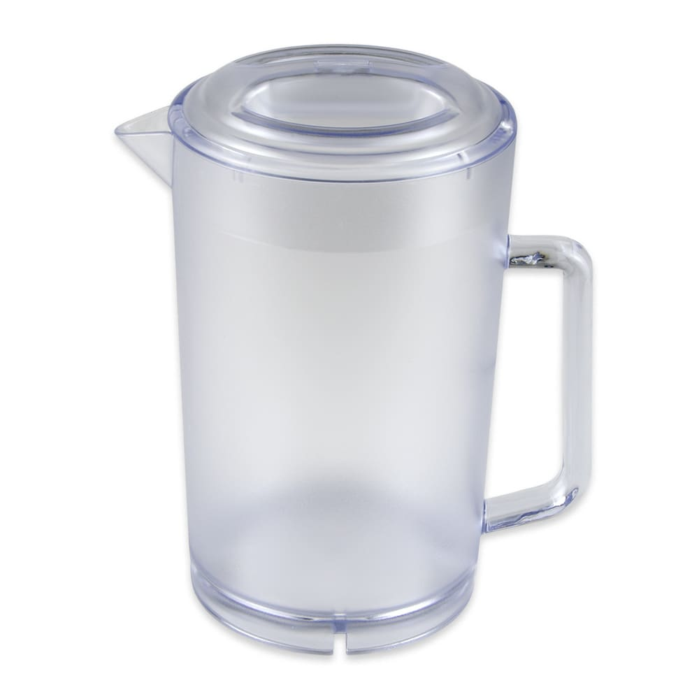 "GET P-3064-1-CL 7.5"" Round Water Pitcher w/ 64 oz Capacity, Lid, Plastic, Clear"