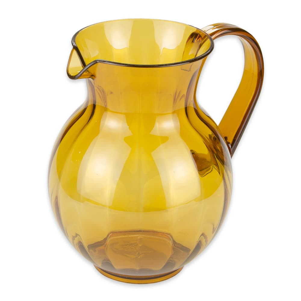 "GET P-4090-PC-A 8.75"" Round Beverage Pitcher, Polycarbonate, Amber"