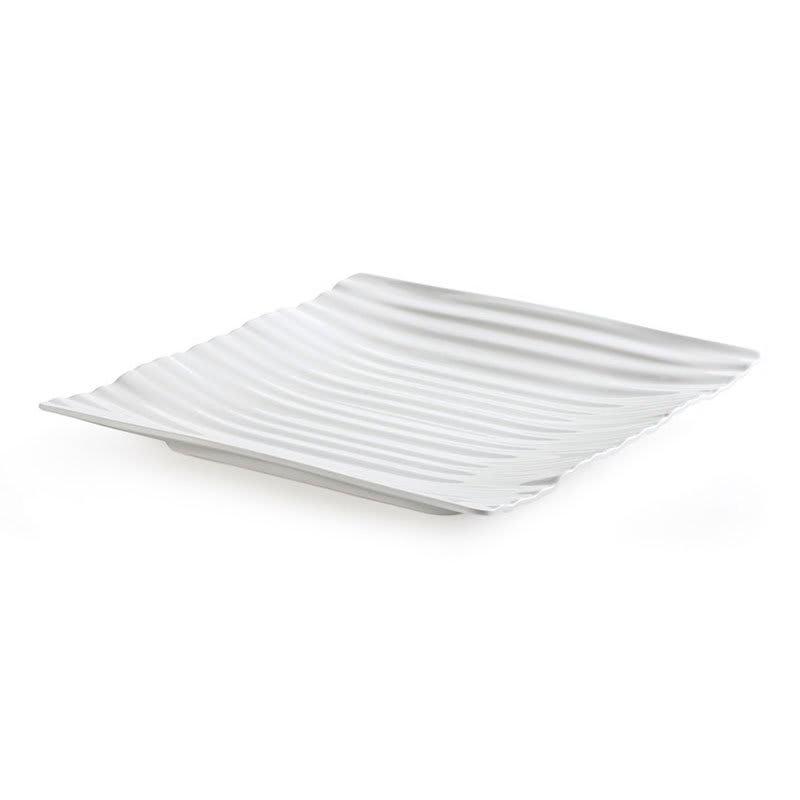 "GET PL-85-W 10"" Square Polynesian Plate w/ Break Resistance, Melamine, White"