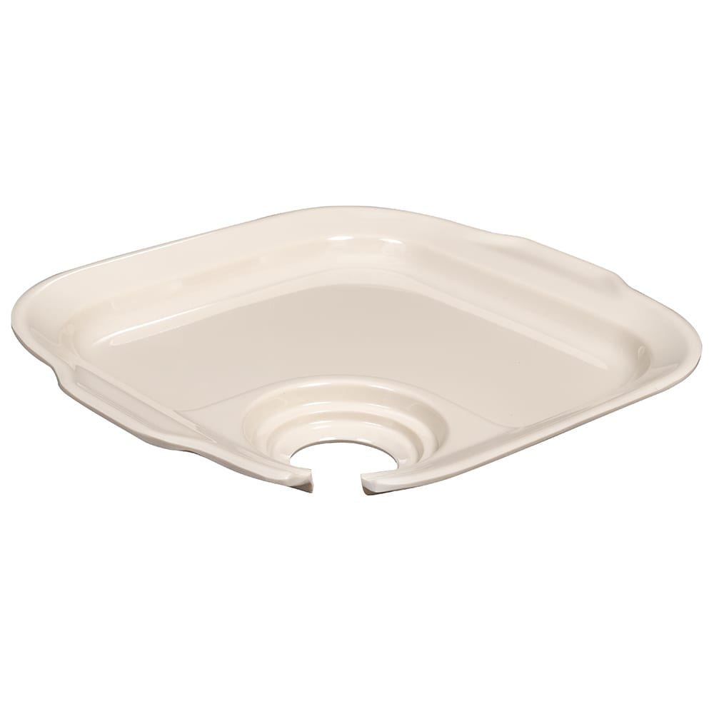 "GET PP-975-IV Party Platter for GET Stemware, 9.75"" x 9"", Melamine, Ivory"