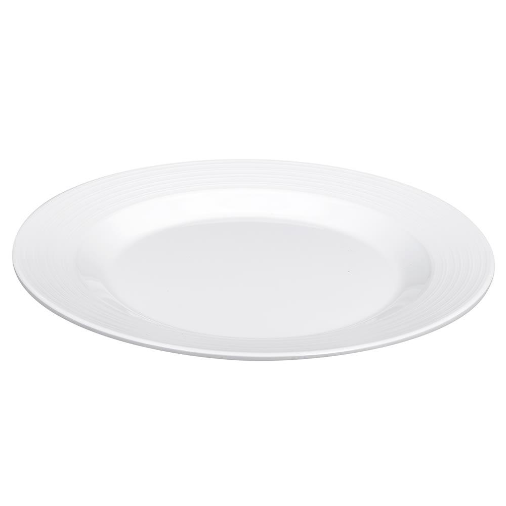 """GET PT-10-MN-W 10.5"""" Round Dinner Plate, Melamine, White"""
