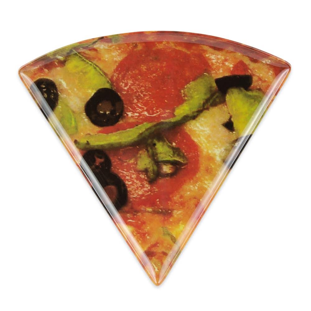 """GET PZ-85-PZ 9"""" Triangular Pizza Plate, Melamine, Multi-Colored"""