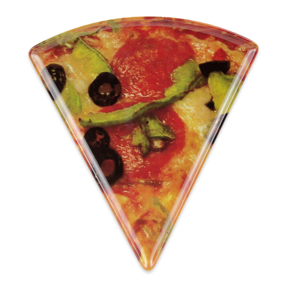 "GET PZ-86-PZ 9"" Triangular Pizza Plate, Melamine, Multi-Colored"