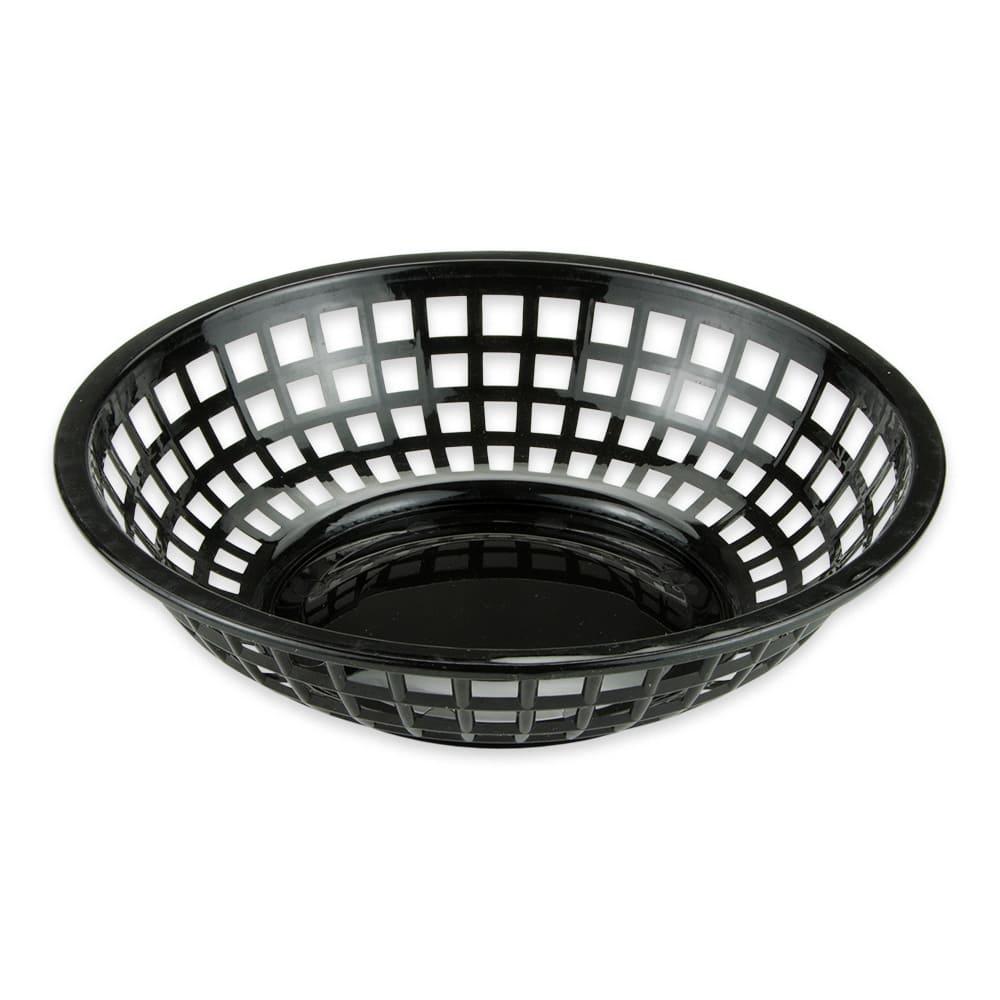 """GET RB-820-BK 8"""" Round Bread & Bun Basket, Plastic, Black"""