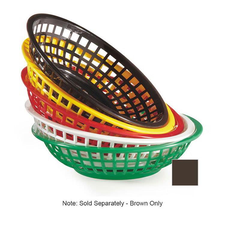 """GET RB-820-BR 8""""Round Bread & Bun Basket, Plastic, Brown"""