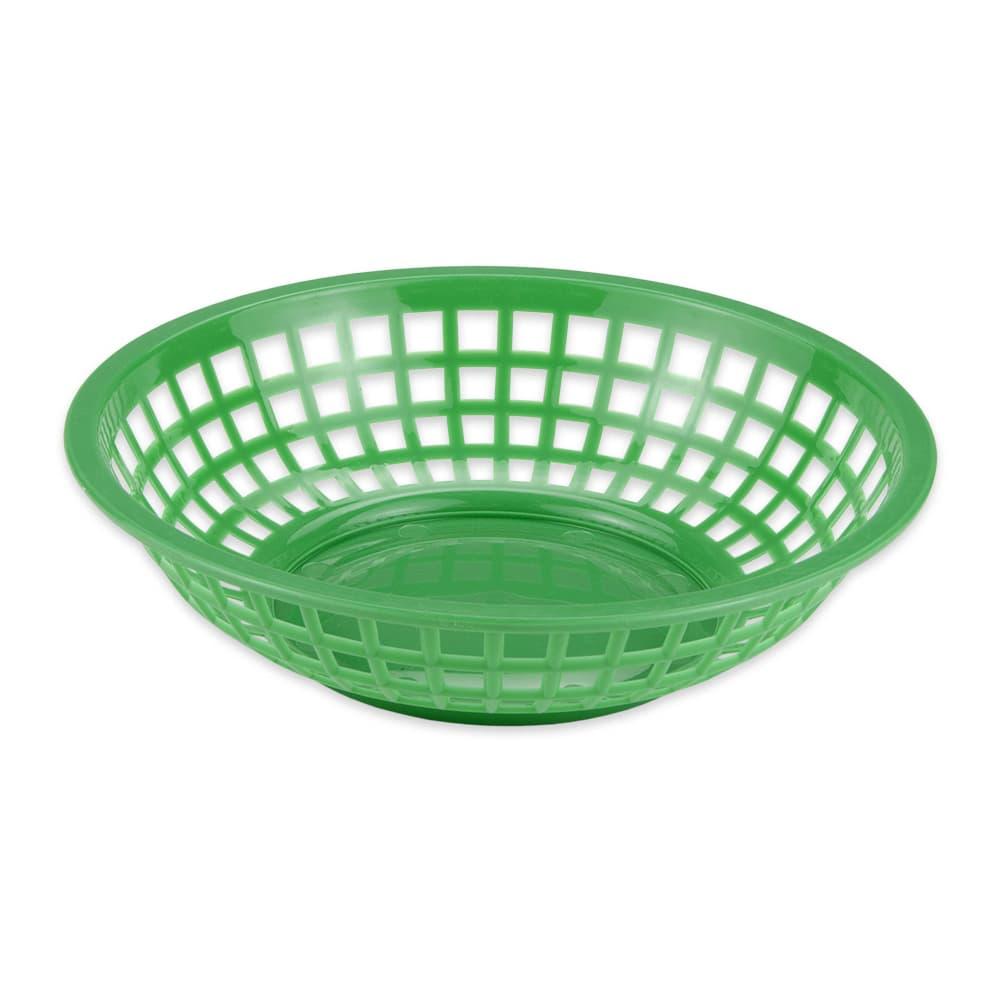 """GET RB-820-G 8"""" Round Bread & Bun Basket, Plastic, Green"""