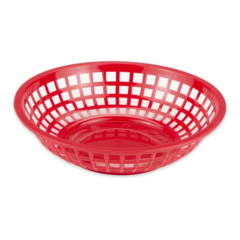 """GET RB-820-SC 8"""" Round Bread & Bun Basket, Plastic, Scarlet"""