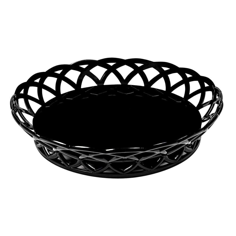"GET RB-860-BK 10.5"" Round Fast Food Basket, Polypropylene, Black"