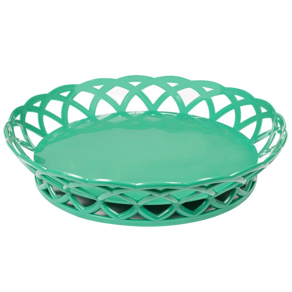 """GET RB-860-FG 10.5"""" Round Fast Food Basket, Polypropylene, Green"""