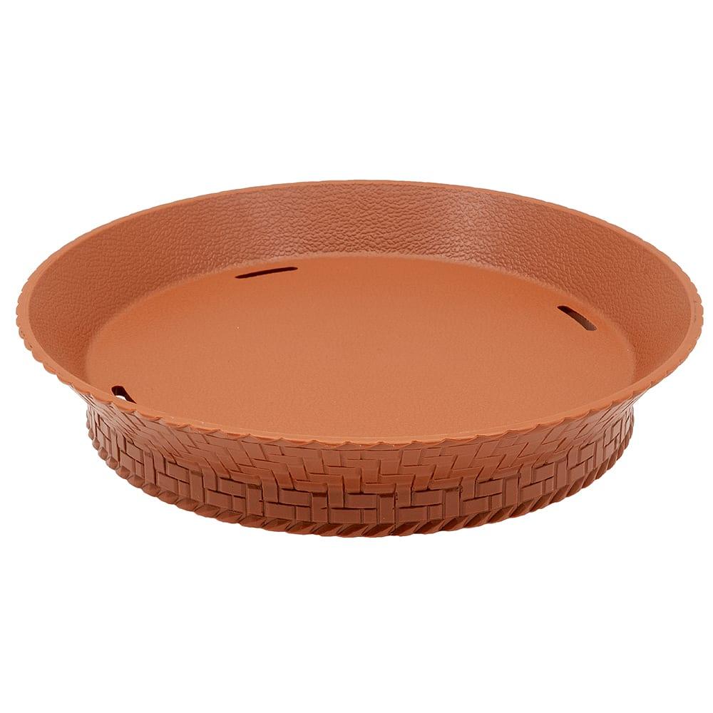 "GET RB-894-TER 7.27"" Round Fast Food Basket, Plastic, Terracotta"