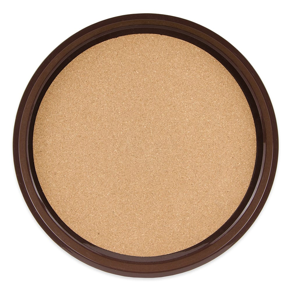 """GET RCT-14-BR 14"""" Round Serving Tray, Plastic, Brown"""