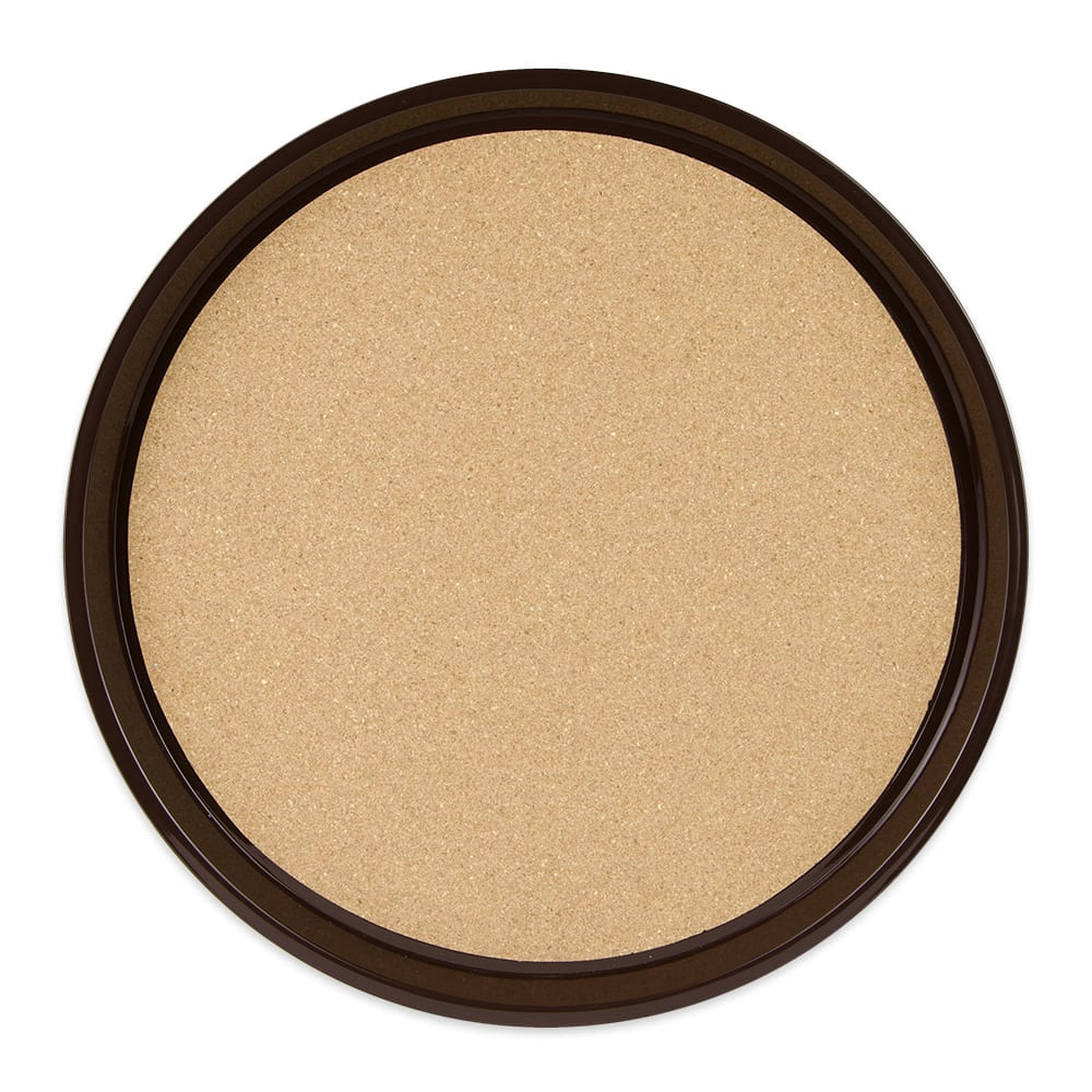 """GET RCT-16-BR 16"""" Round Serving Tray, Plastic, Brown"""