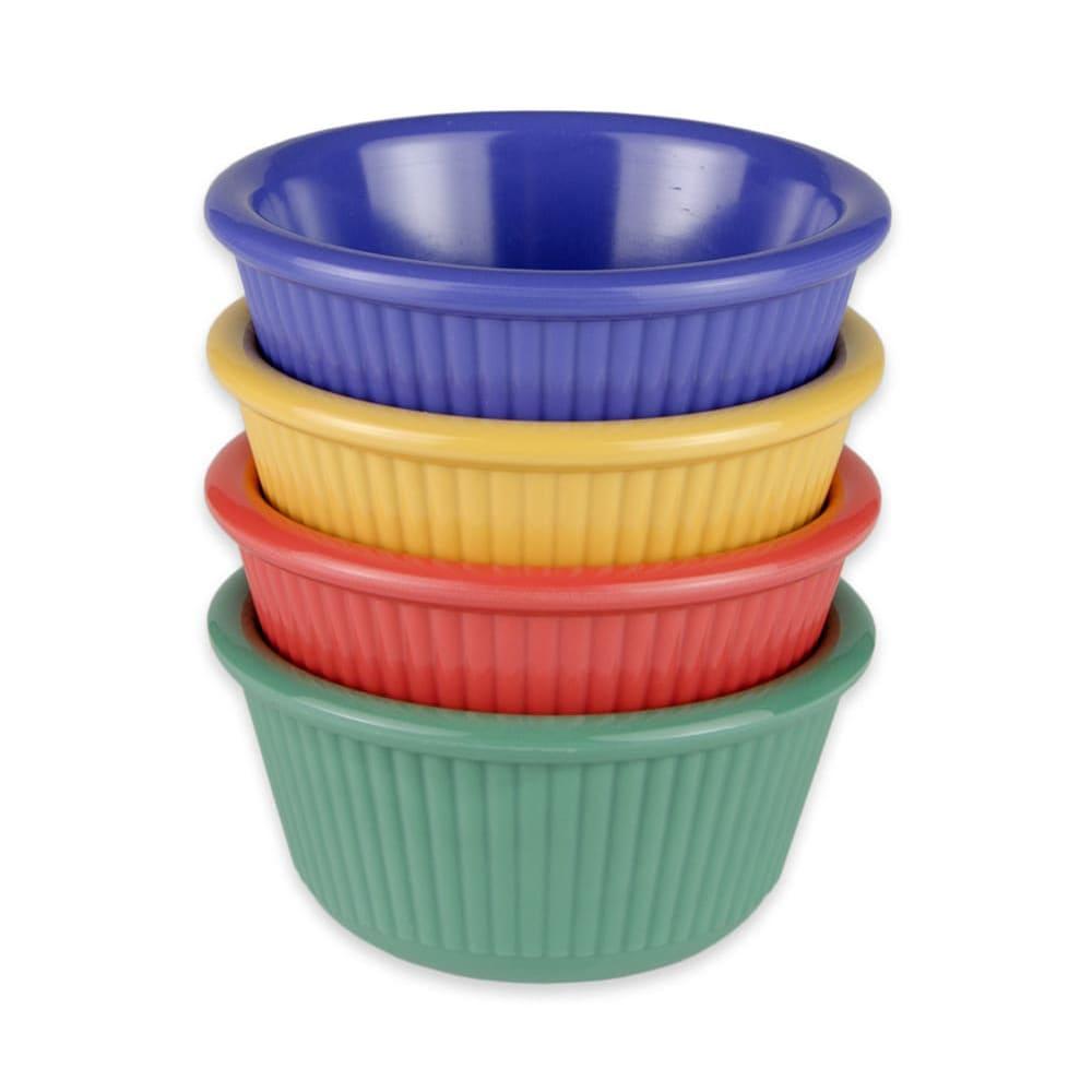 GET RM-389-MIX (4) 3-oz  Ramekin, Melamine, Multi-Colored