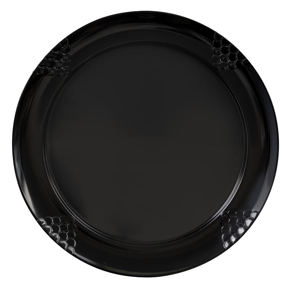 """GET RP-16-BK 16"""" Round Dinner Plate, Melamine, Black"""