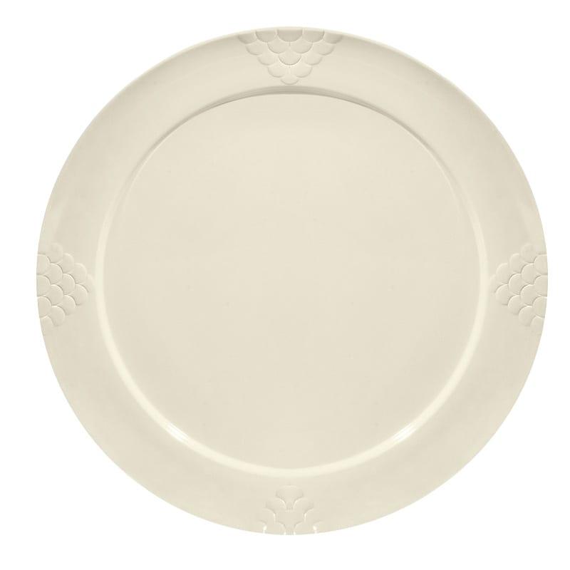 """GET RP-18-IV 18"""" Round Dinner Plate, Melamine, Ivory"""