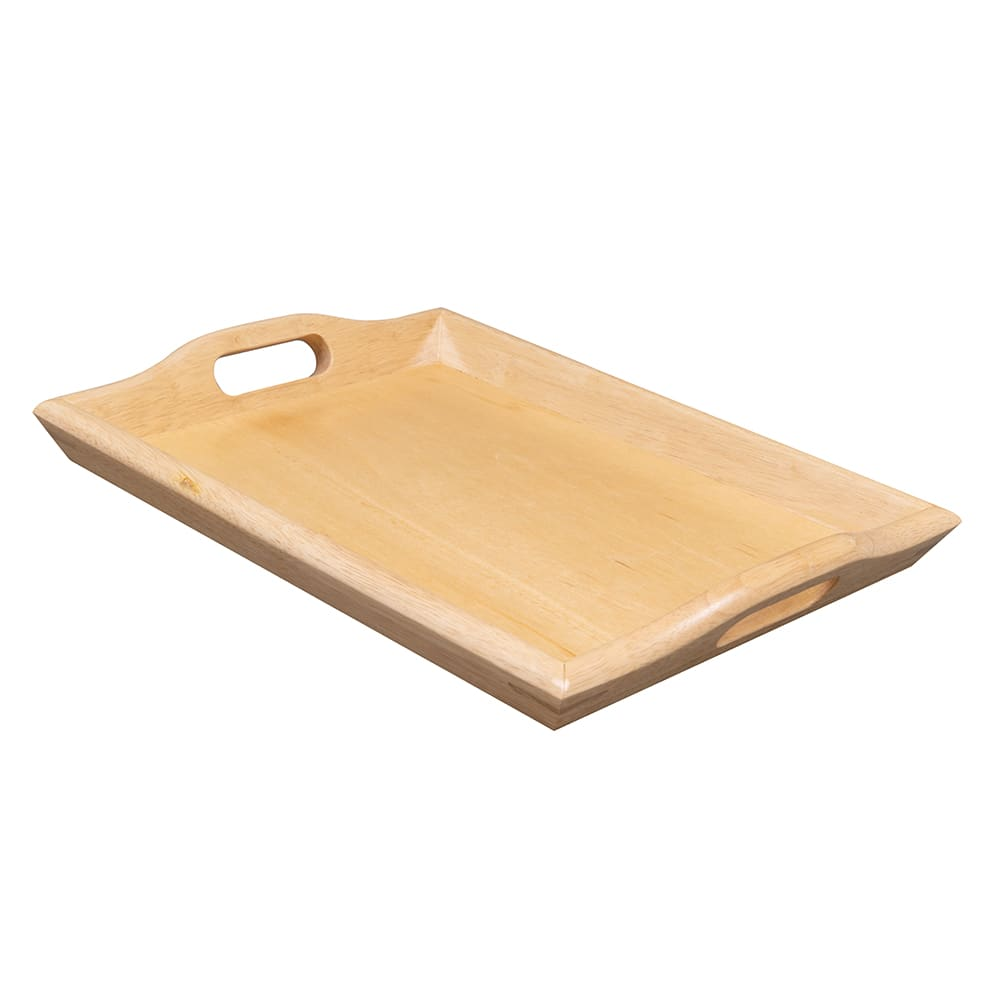 "GET RST-1814-N Room Service Tray, 19"" x 14.25"", Hardwood, Natural"