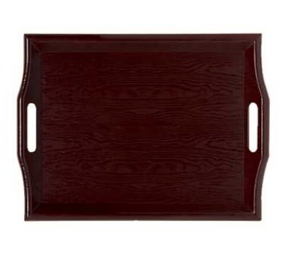GET RST-1815-M 18 x 14 in Room Service Tray, Plastic, Wood Look, Mahogany