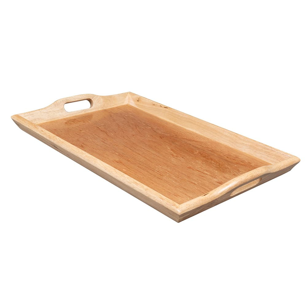 "GET RST-2516-N Rectangular Room Service Tray, 25"" x 16"", Hardwood, Natural"