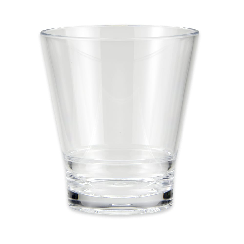 GET S-11-CL 12 oz Rocks Glass, SAN Plastic, Clear