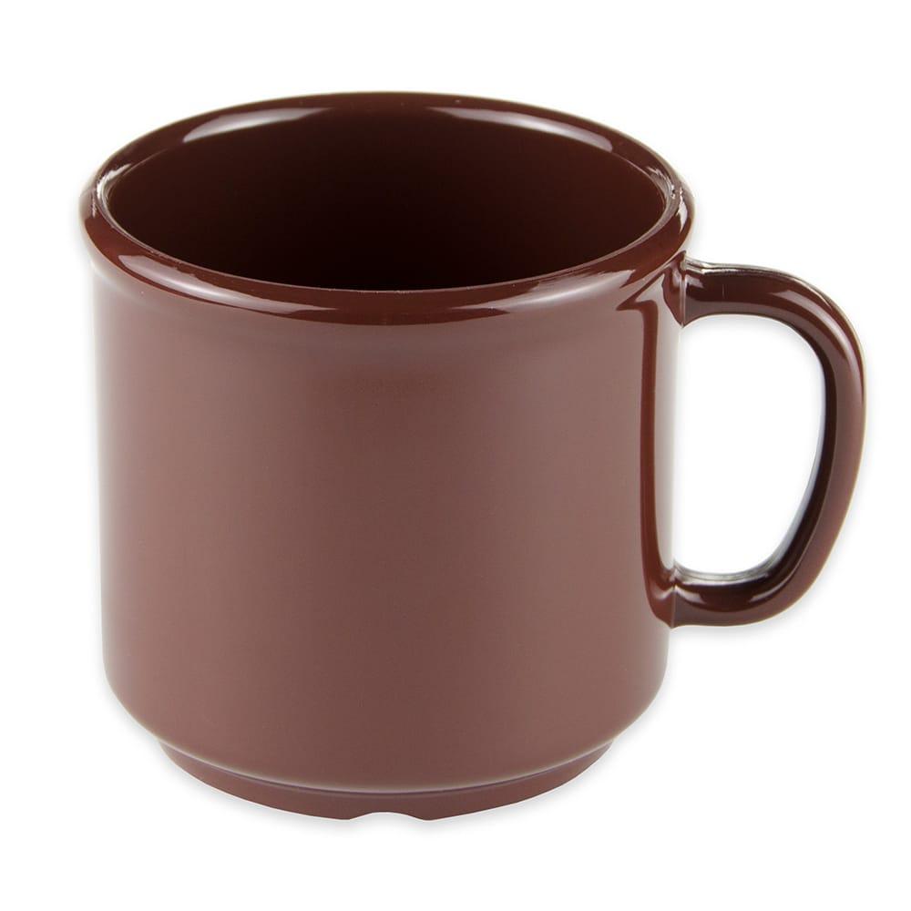 GET S-12-BR 12-oz Coffee Mug, Plastic, Brown