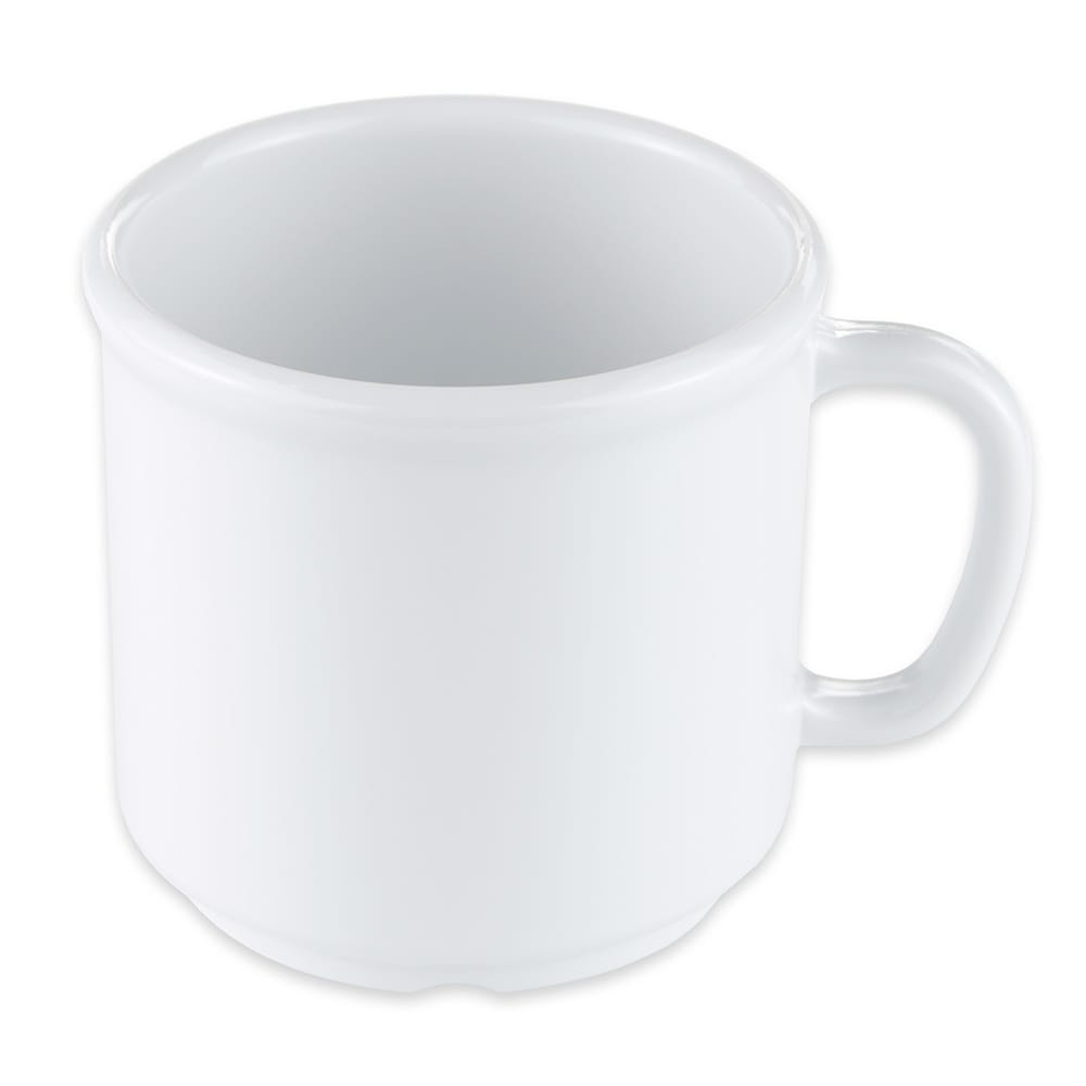 GET S-12-W 12-oz Coffee Mug, Plastic, White