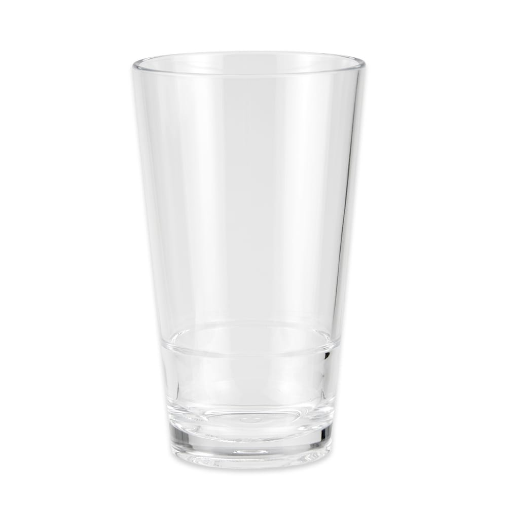 GET S-17-CL 16 oz Pint Glass, SAN Plastic, Clear