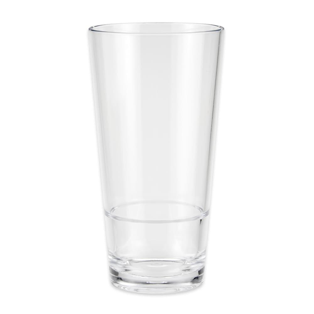 GET S-18-CL 20-oz Pint Glass, SAN Plastic, Clear