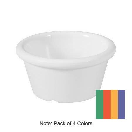 GET S-620-MIX (4) 2-oz  Ramekin, Melamine, Multi-Colored