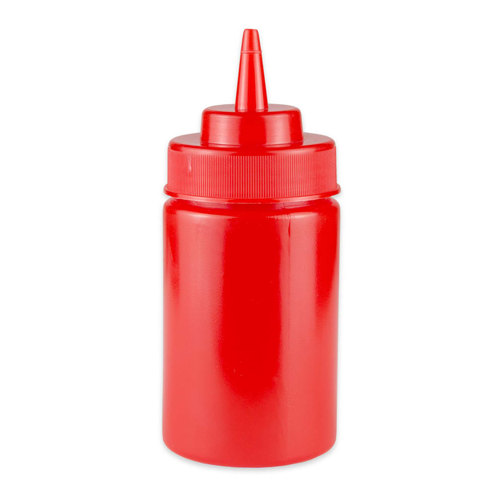 GET SB-12-R 12-oz Squeeze Bottle w/ Lid, Red