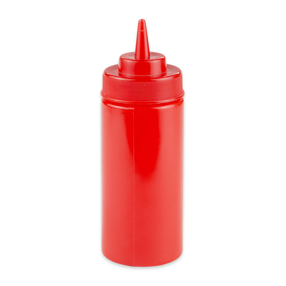 GET SB-16-R 16-oz Squeeze Bottle w/ Lid, Red