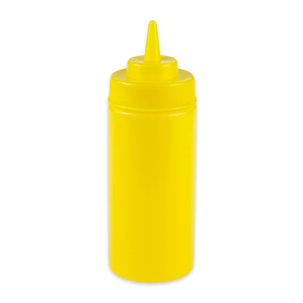 GET SB-16-Y 16 oz Squeeze Bottle w/ Lid, Yellow