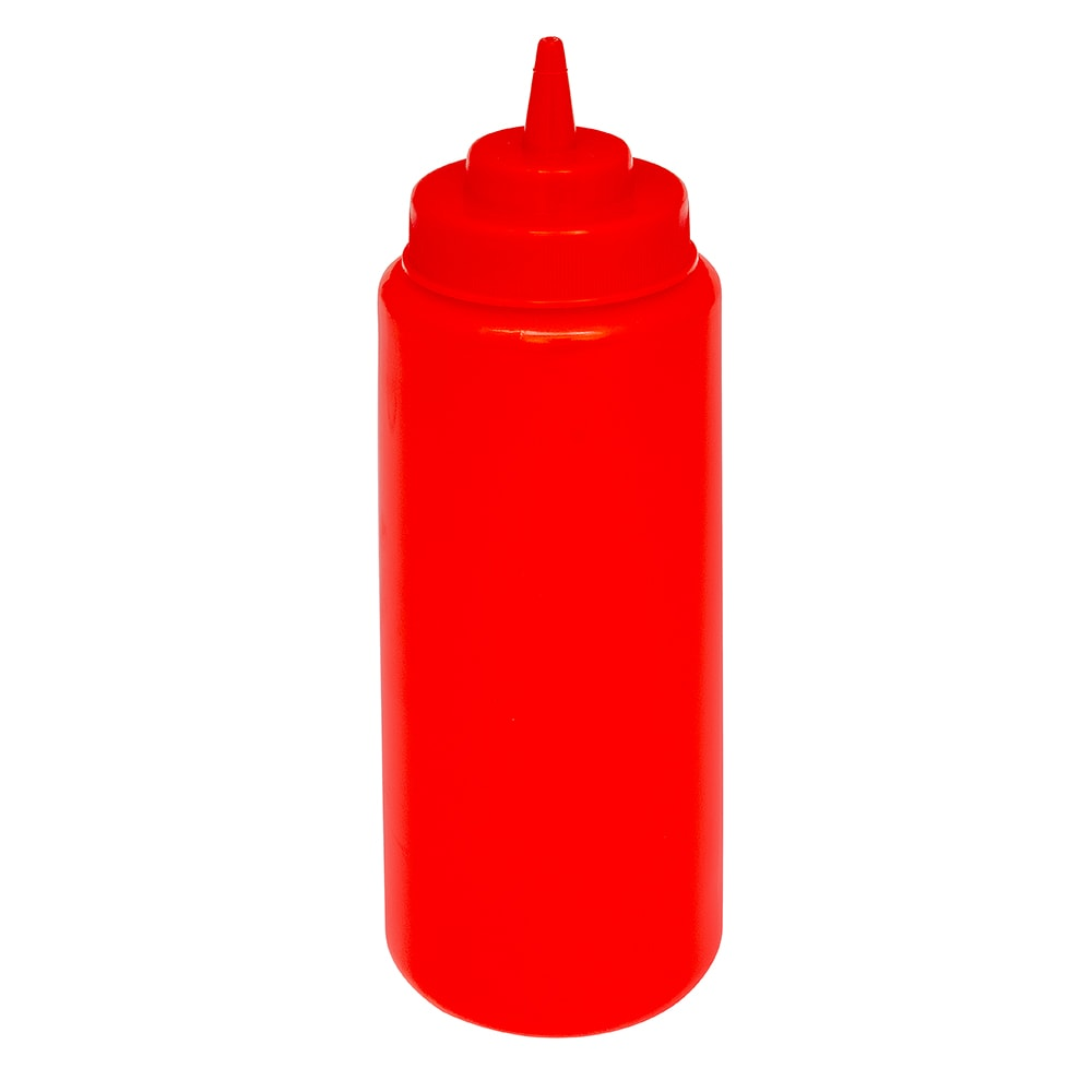 GET SB-24-R 24 oz Squeeze Bottle w/ Lid, Red