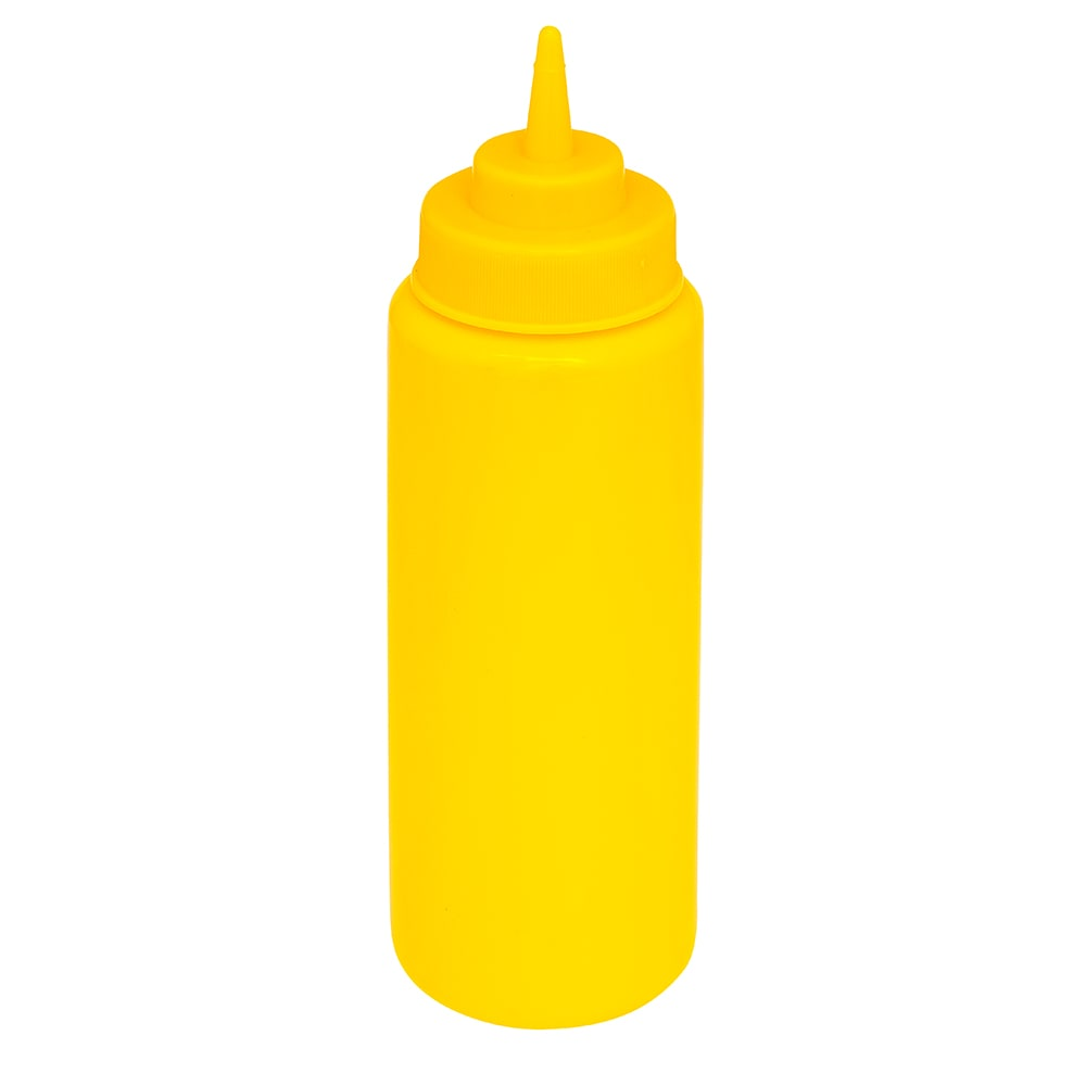 GET SB-24-Y 24-oz Squeeze Bottle w/ Lid, Yellow