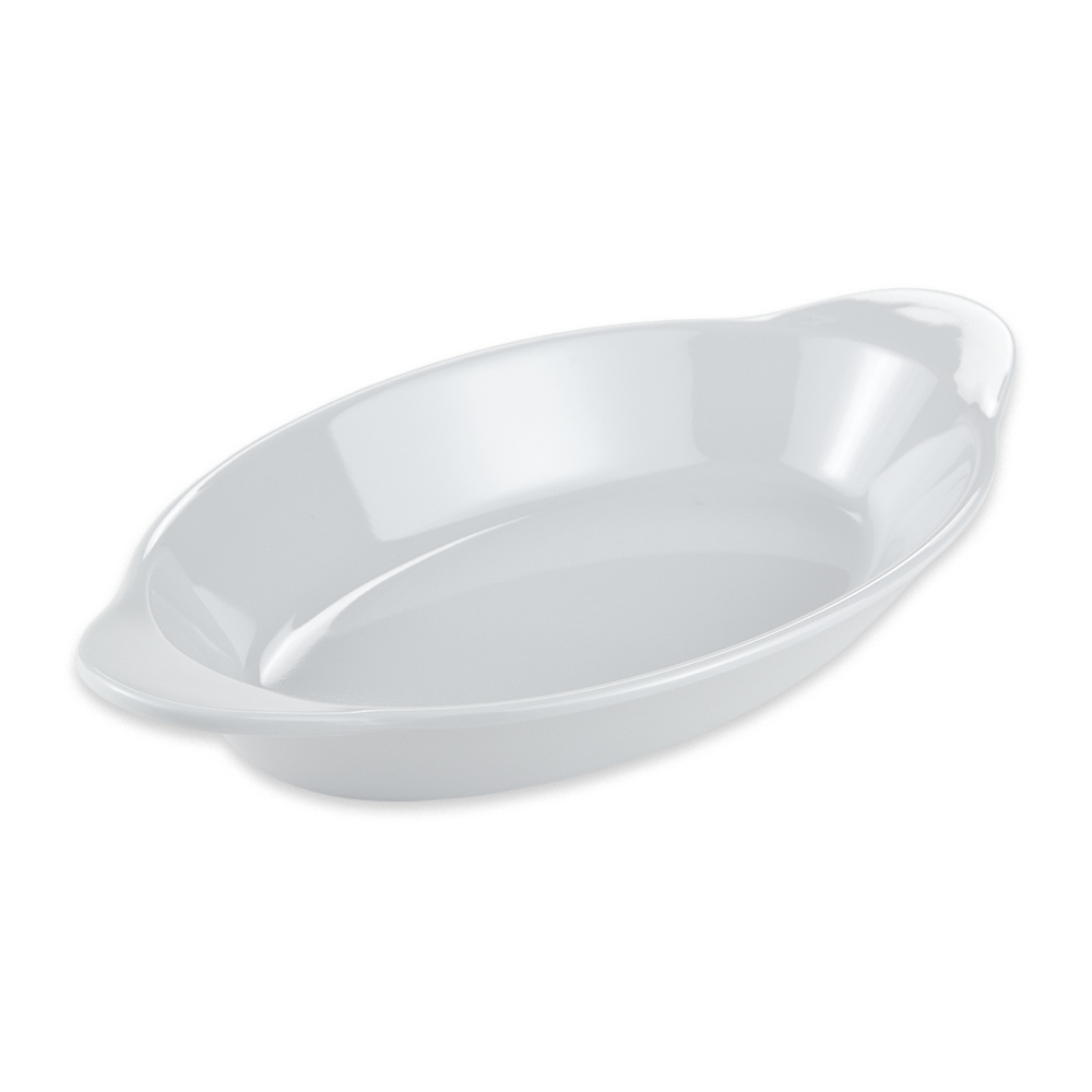 "GET SD-08-W Oval Side Dish, 8.5"" x 4.5"", Melamine, White"