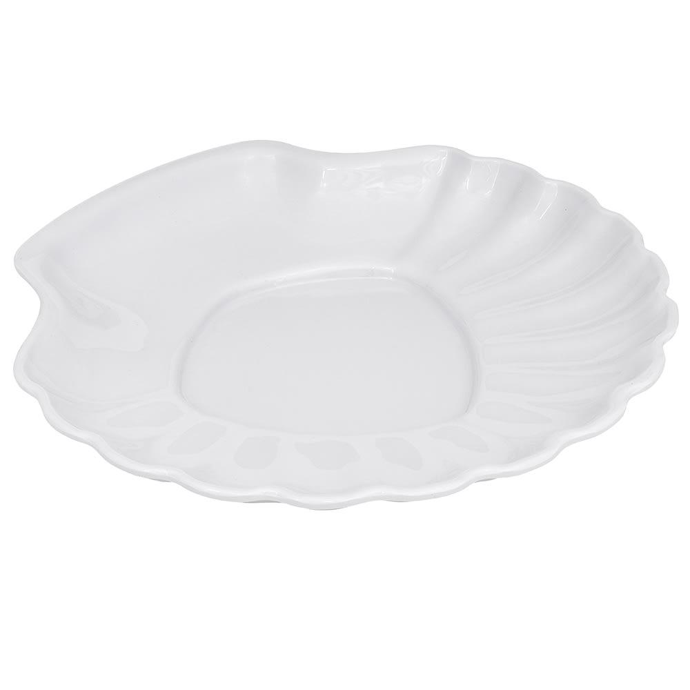 "GET SH-12-W 12"" Round Dinner Plate, Melamine, White"