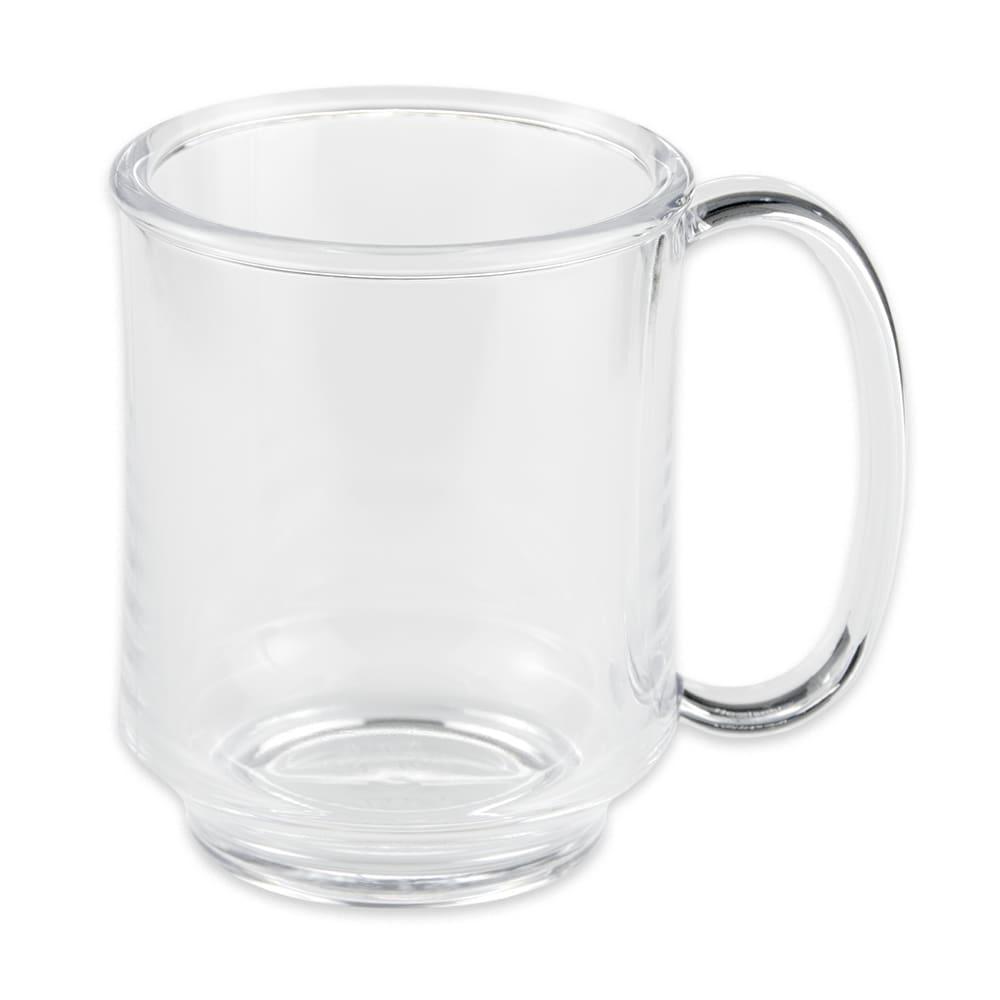 GET SN-104-CL 8-oz Coffee Mug, Plastic, Clear