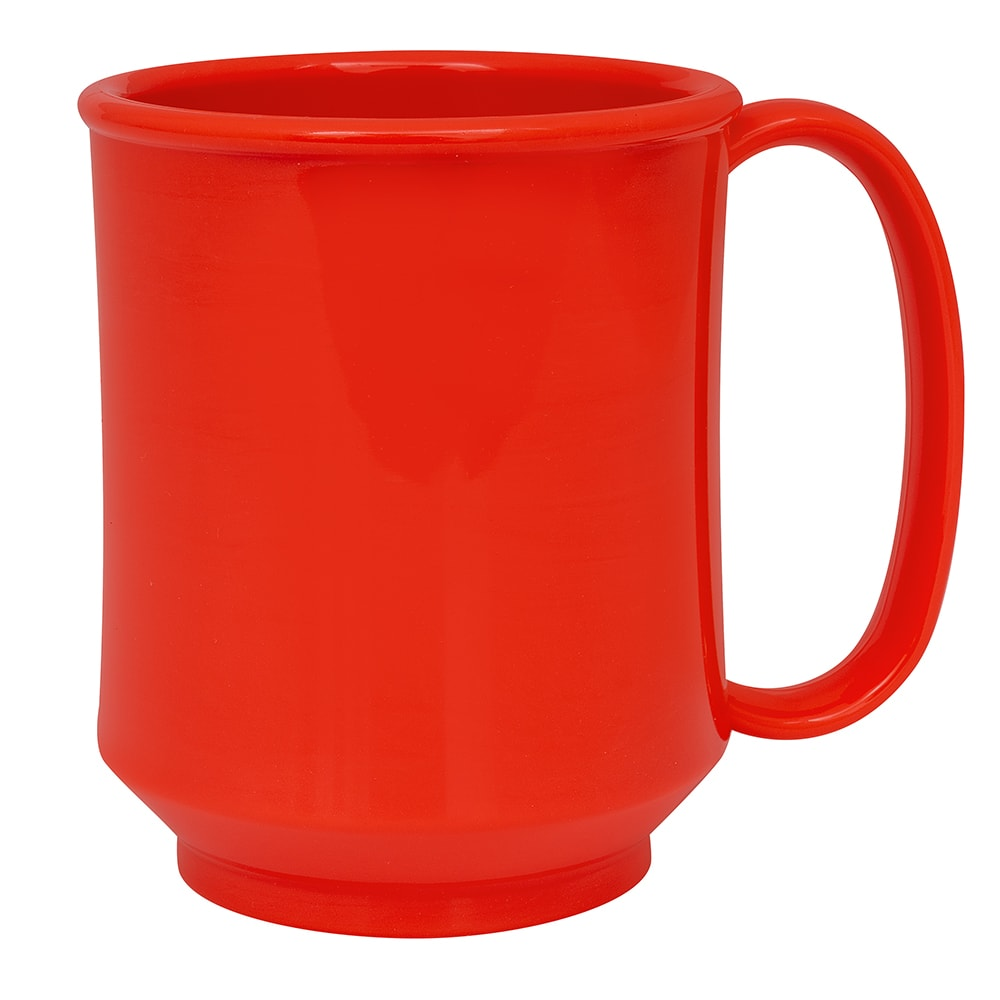 GET SN-104-RO 8-oz Coffee Mug, Plastic, Orange