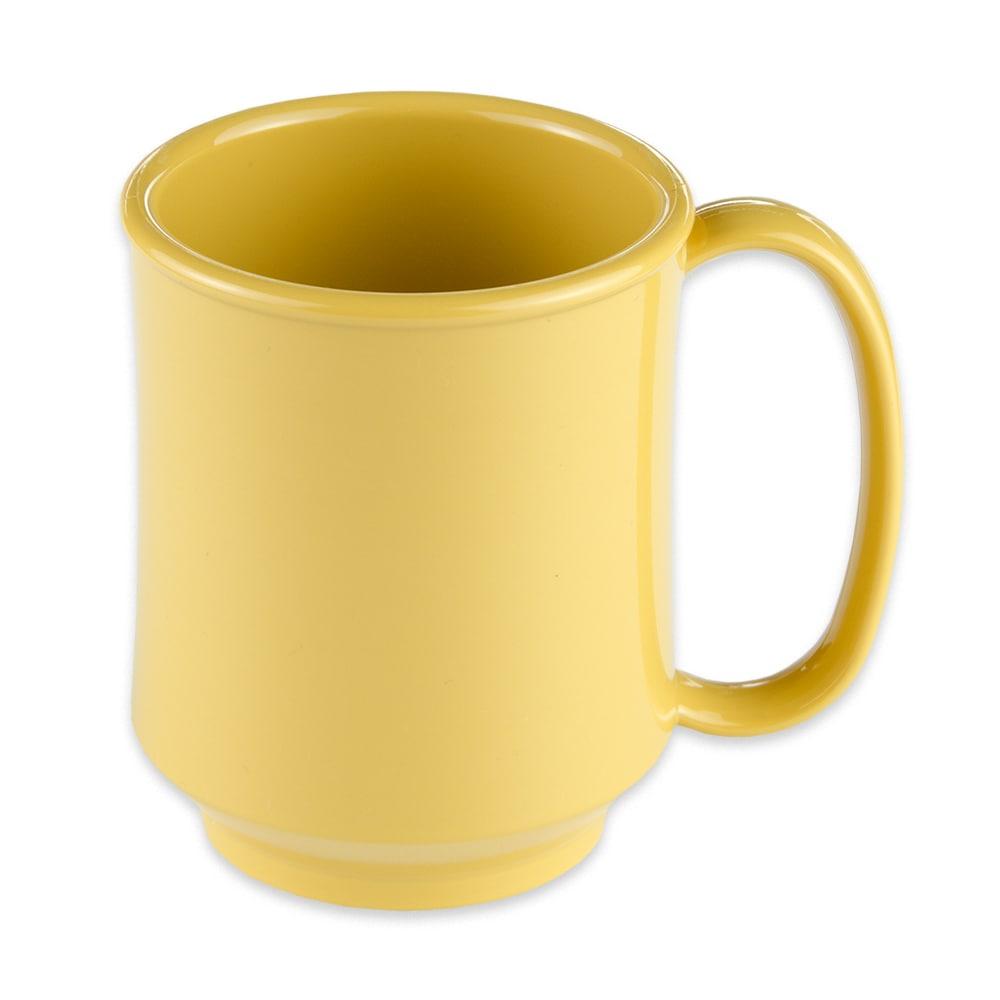 GET SN-104-TY 8-oz Coffee Mug, Plastic, Yellow