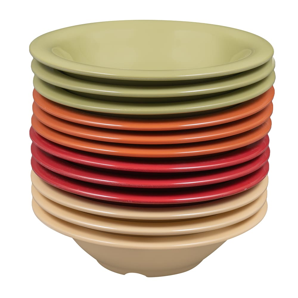 "GET SP-B-167-COMBO (4) 7.5"" Round Salad Bowl w/ 16-oz Capacity, Melamine, Multi-Colored"