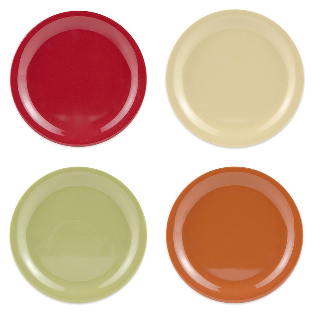 "GET SP-NP-6-COMBO (4) 6.5"" Round Dessert Plate, Melamine, Multi-Colored"