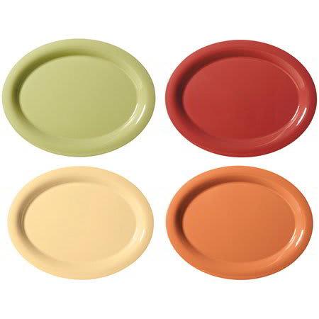 """GET SP-OP-135-COMBO Oval Serving Platter, 12.25"""" x 8"""", Melamine, Red"""